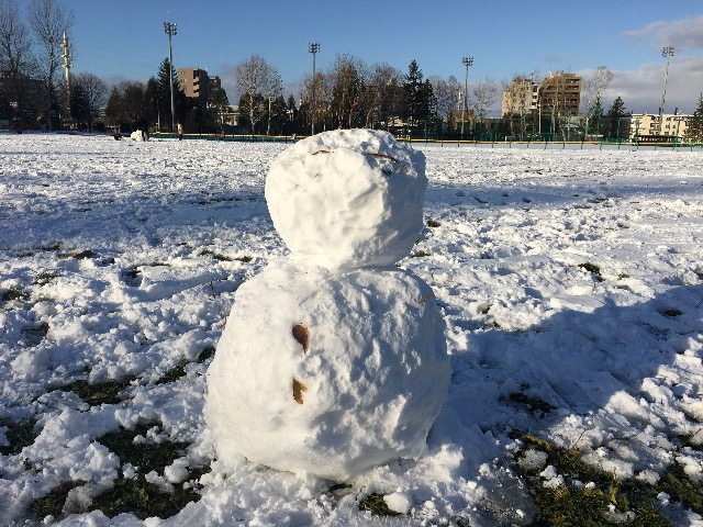 月寒公園 冬 雪だるま