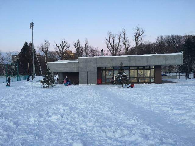 月寒公園 冬 パークライフセンター
