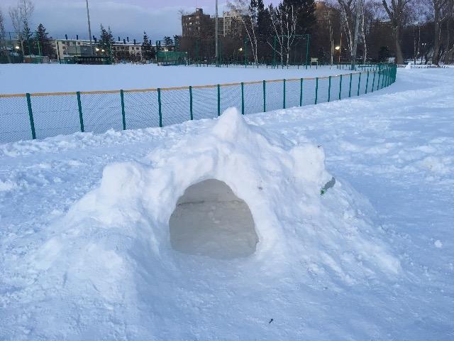 月寒公園 雪遊び