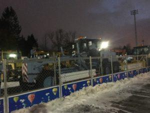 月寒公園 冬 駐車場